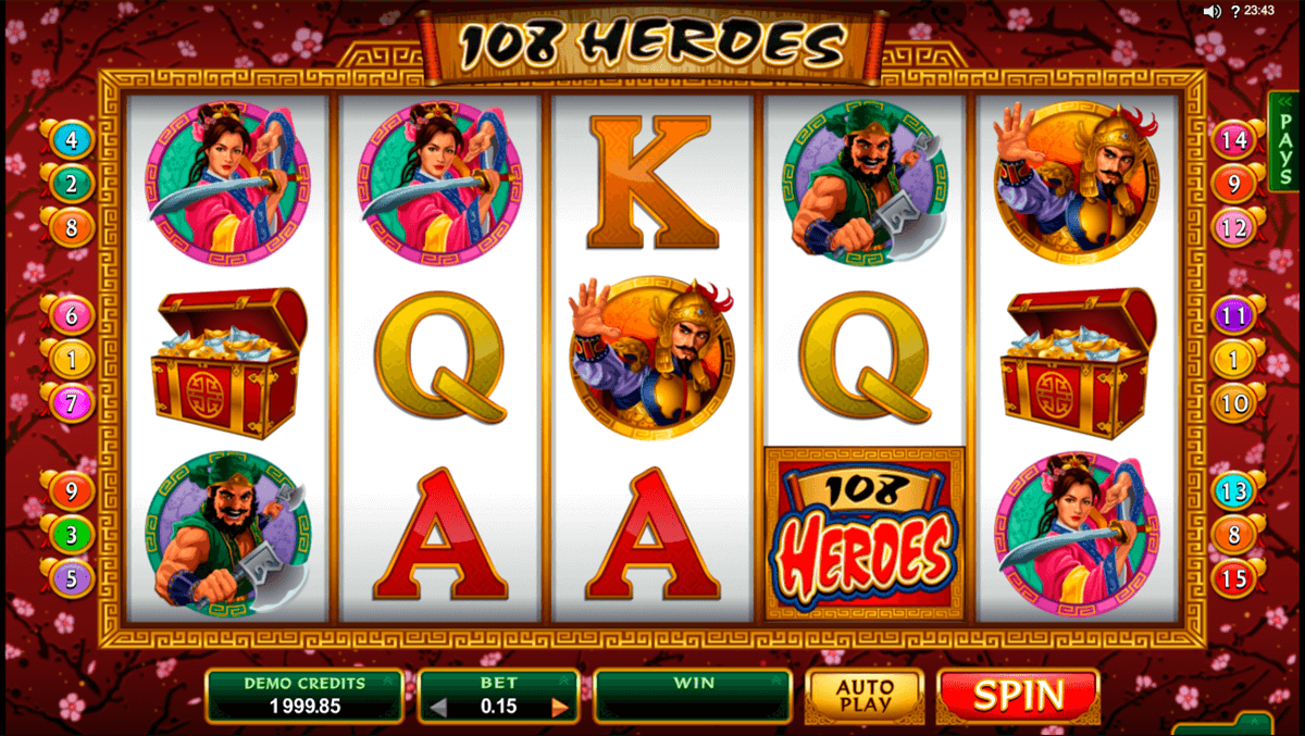 108 heroes microgaming slot machine