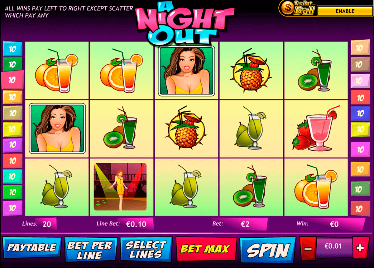 a night out playtech slot machine