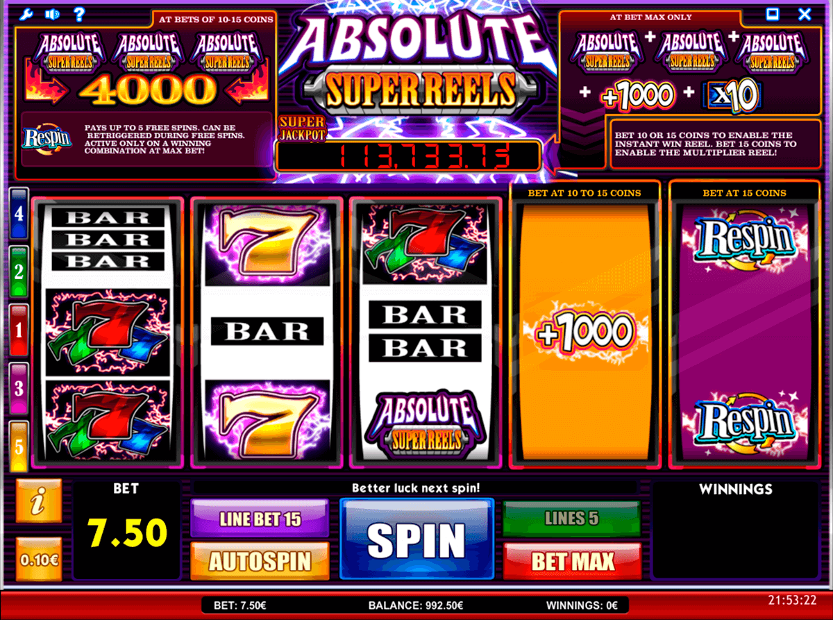 absolute super reels isoftbet slot machine