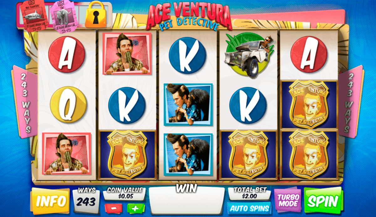 ace ventura pet detective playtech slot machine