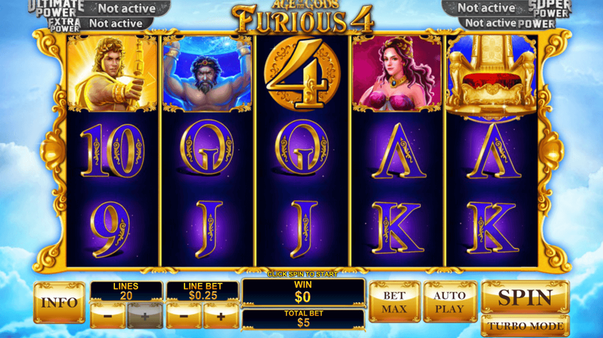 age of the gods furious 4 playtech slot machine