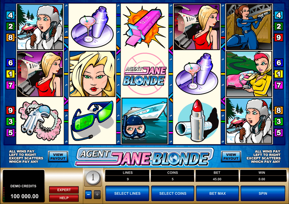 agent jane blonde microgaming slot machine
