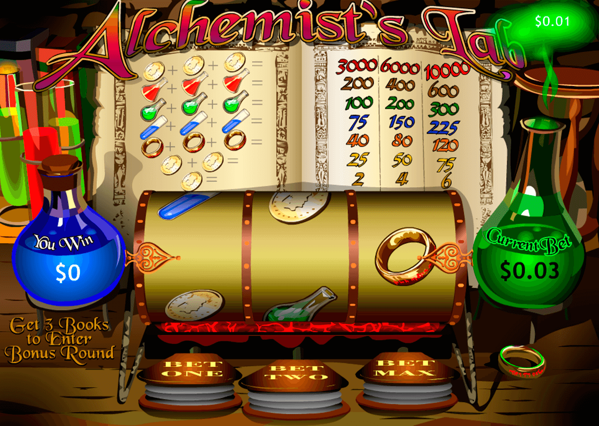 alchemists lab playtech slot machine