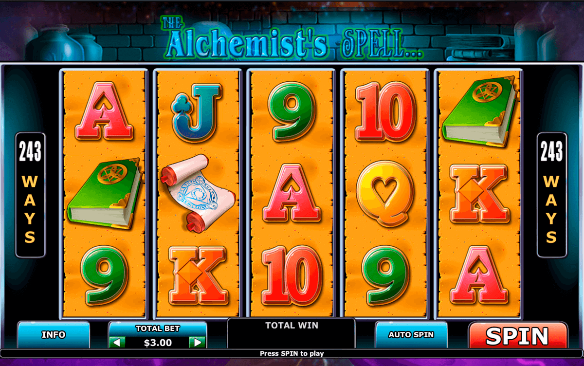 alchemists spell playtech slot machine