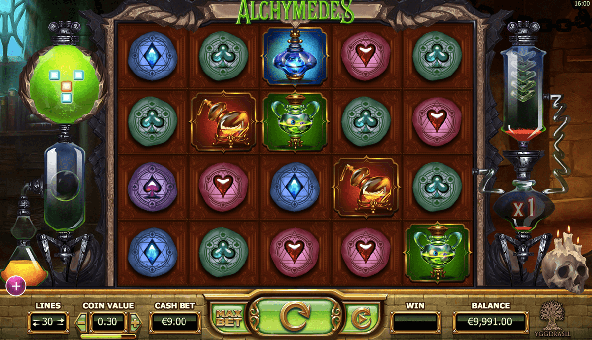 alchymedes yggdrasil slot machine