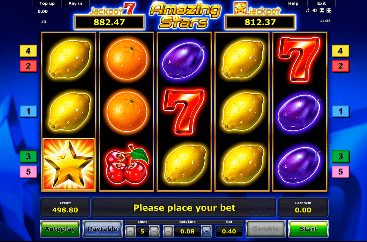 amazing stars novomatic slot machine