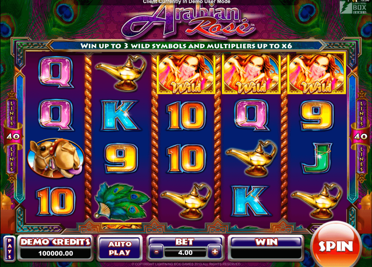 arabian rose microgaming slot machine