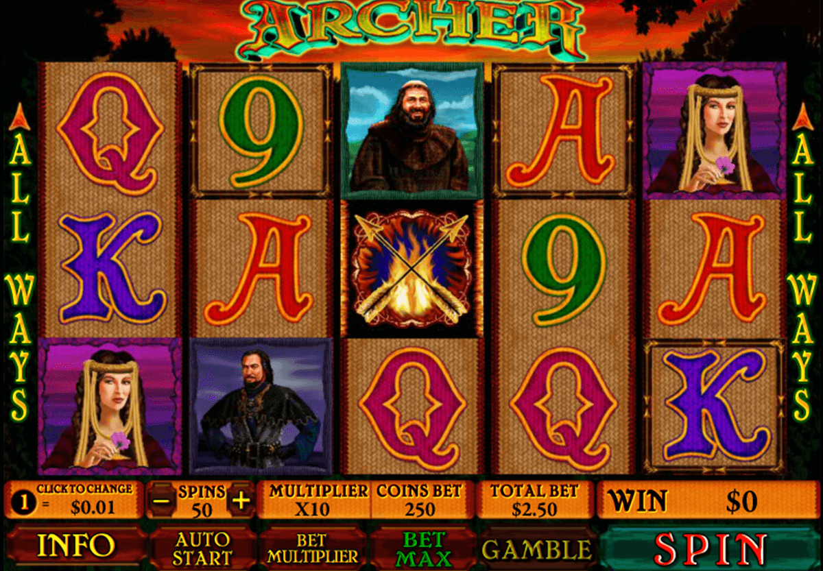 archer playtech slot machine