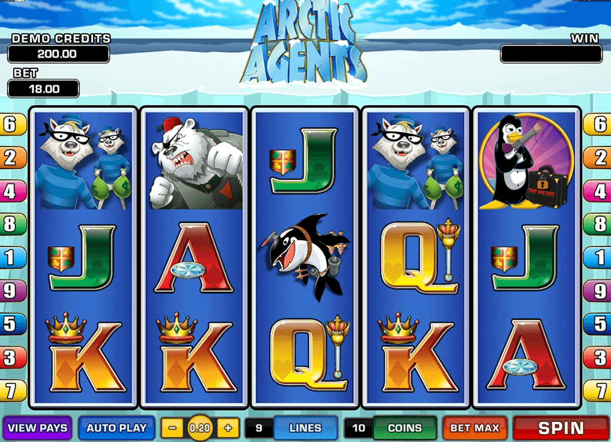 arctic agents microgaming slot machine