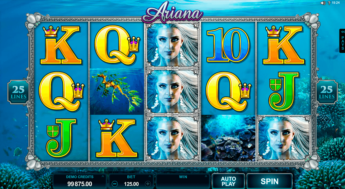 ariana microgaming slot machine
