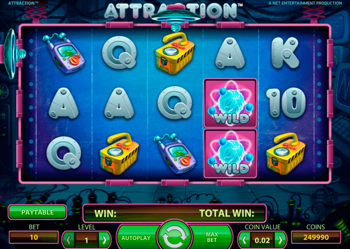 attraction netent slot machine