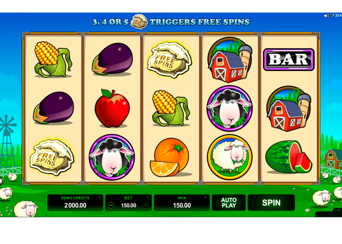 bar bar black sheep 5 reel microgaming slot machine
