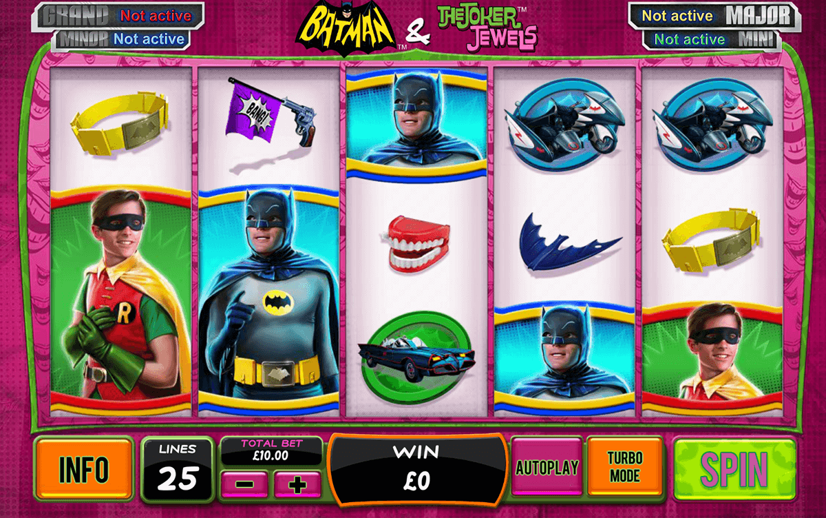 batman the joker jewels playtech slot machine