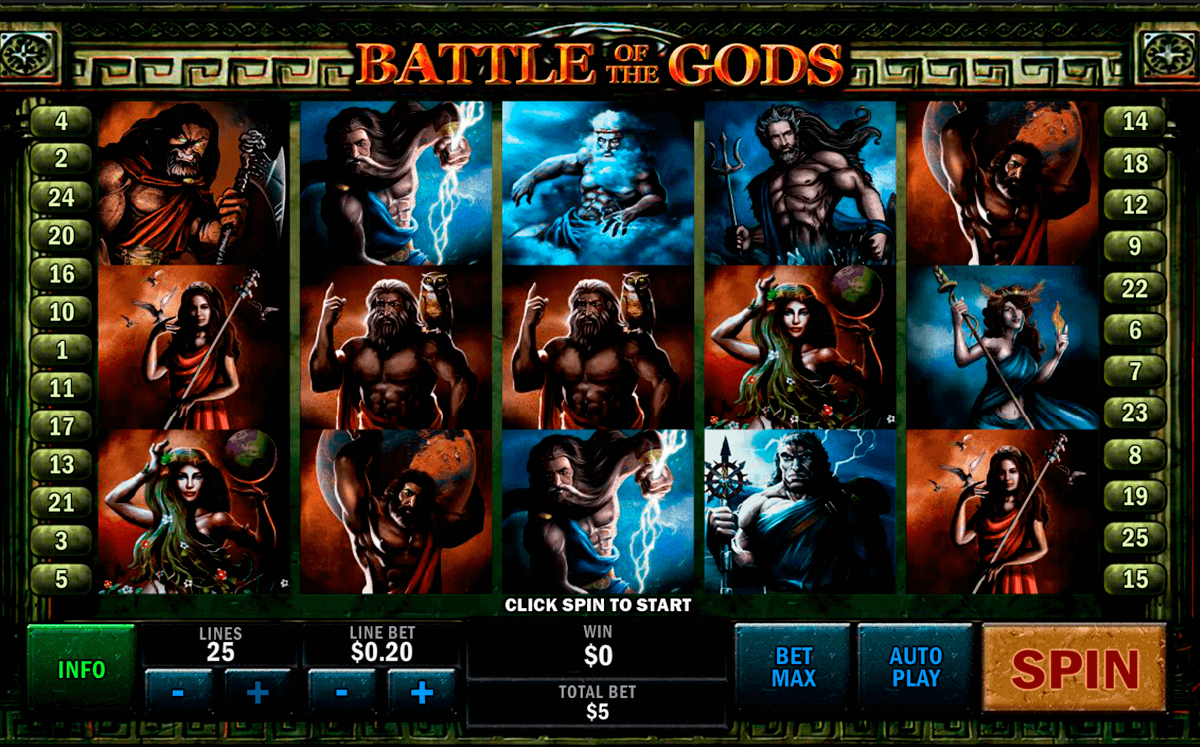 battle of the gods playtech slot machine