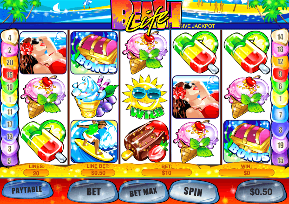 beach life playtech slot machine