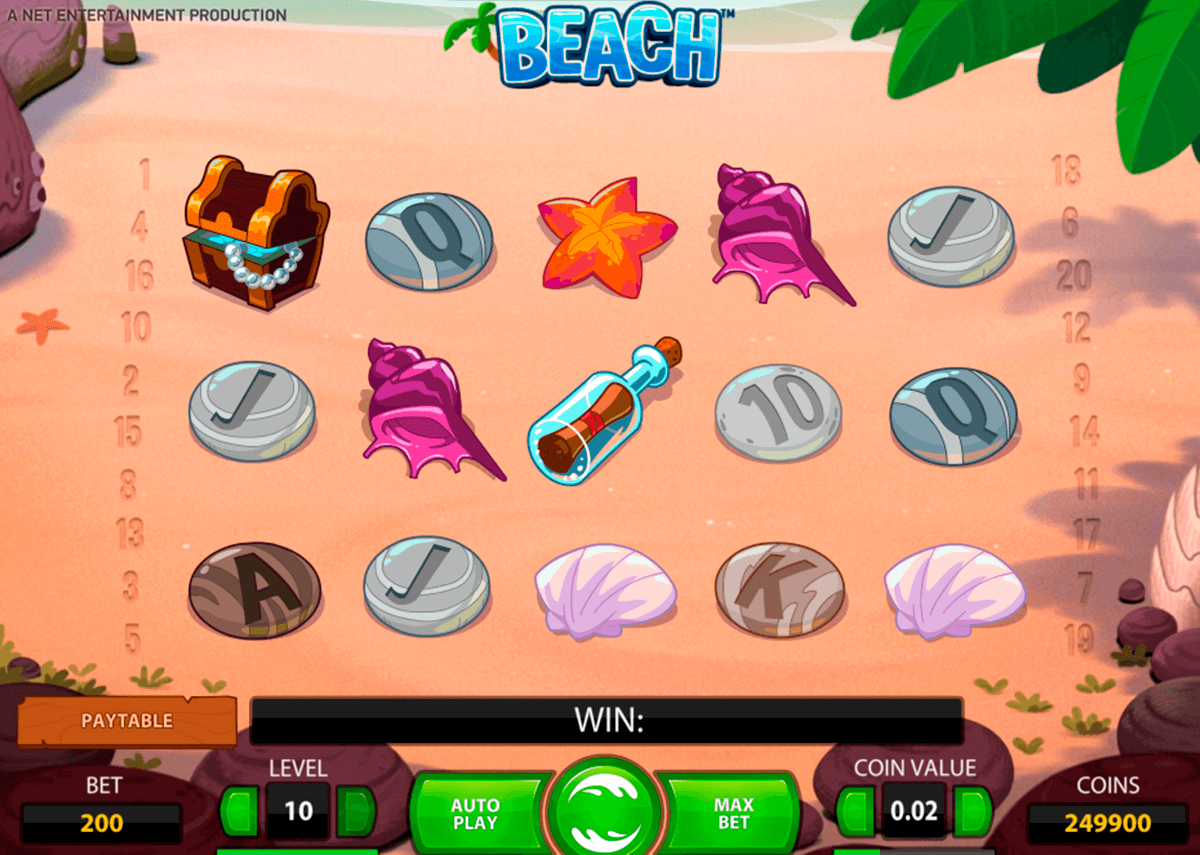 beach netent slot machine