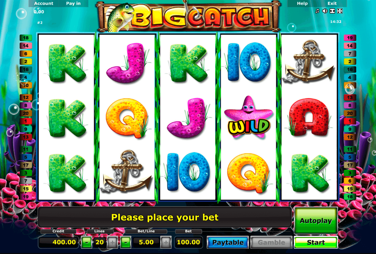 big catch novomatic slot machine
