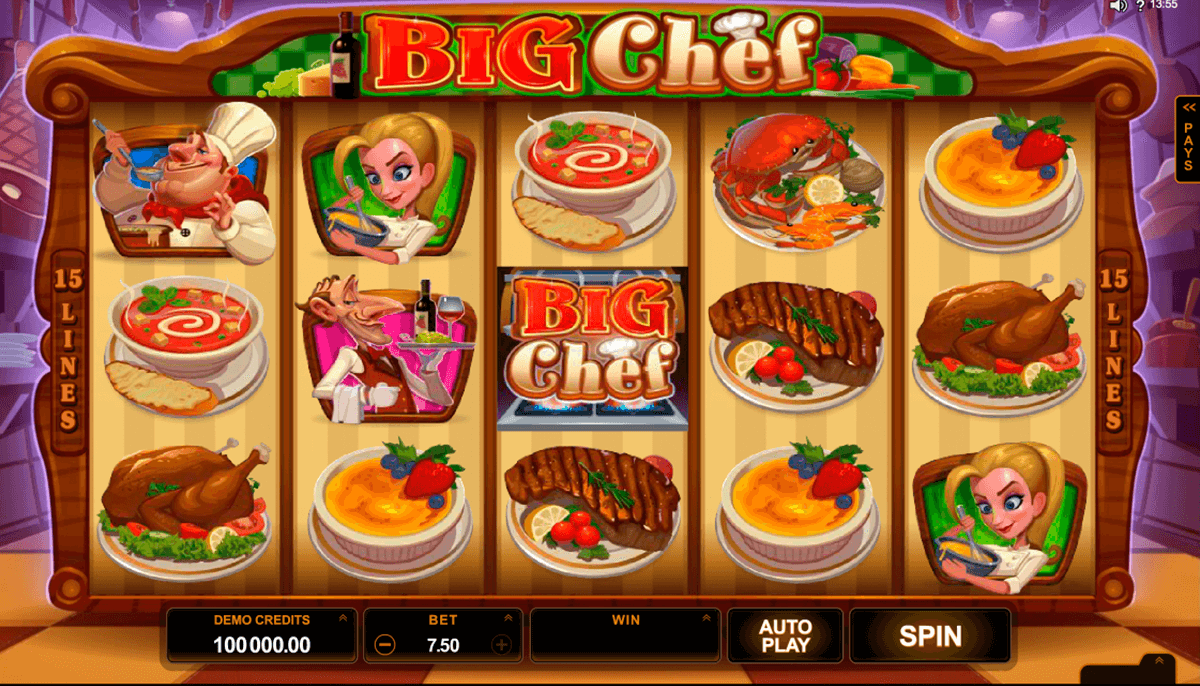 big chef microgaming slot machine