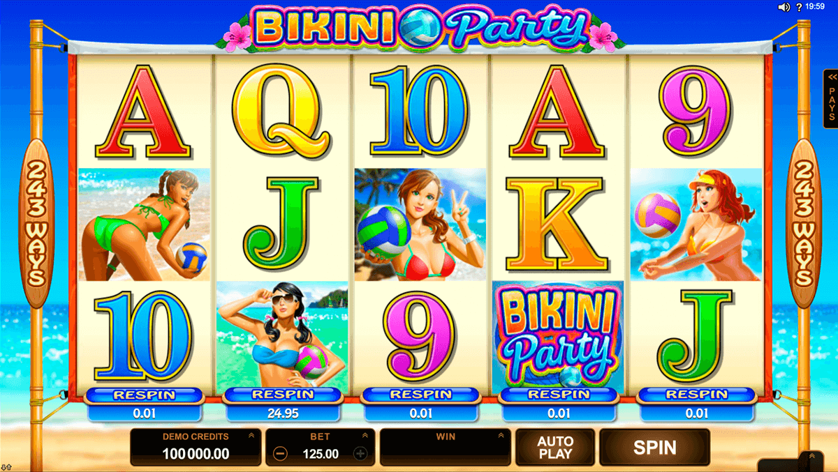 bikini party microgaming slot machine
