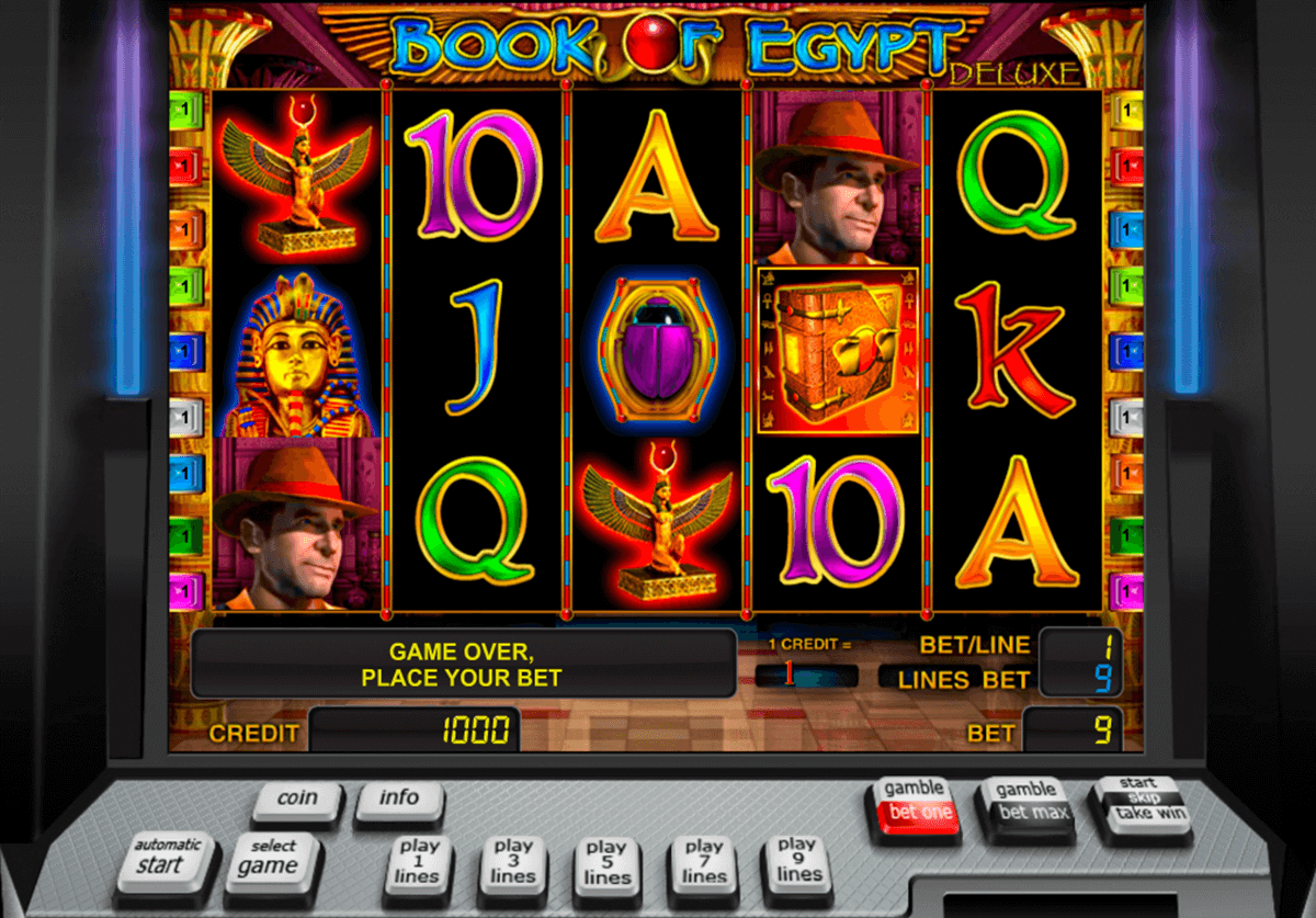 book of egypt deluxe novomatic slot machine