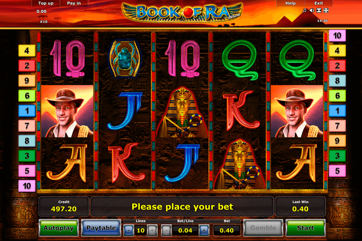 book of ra deluxe novomatic slot machine