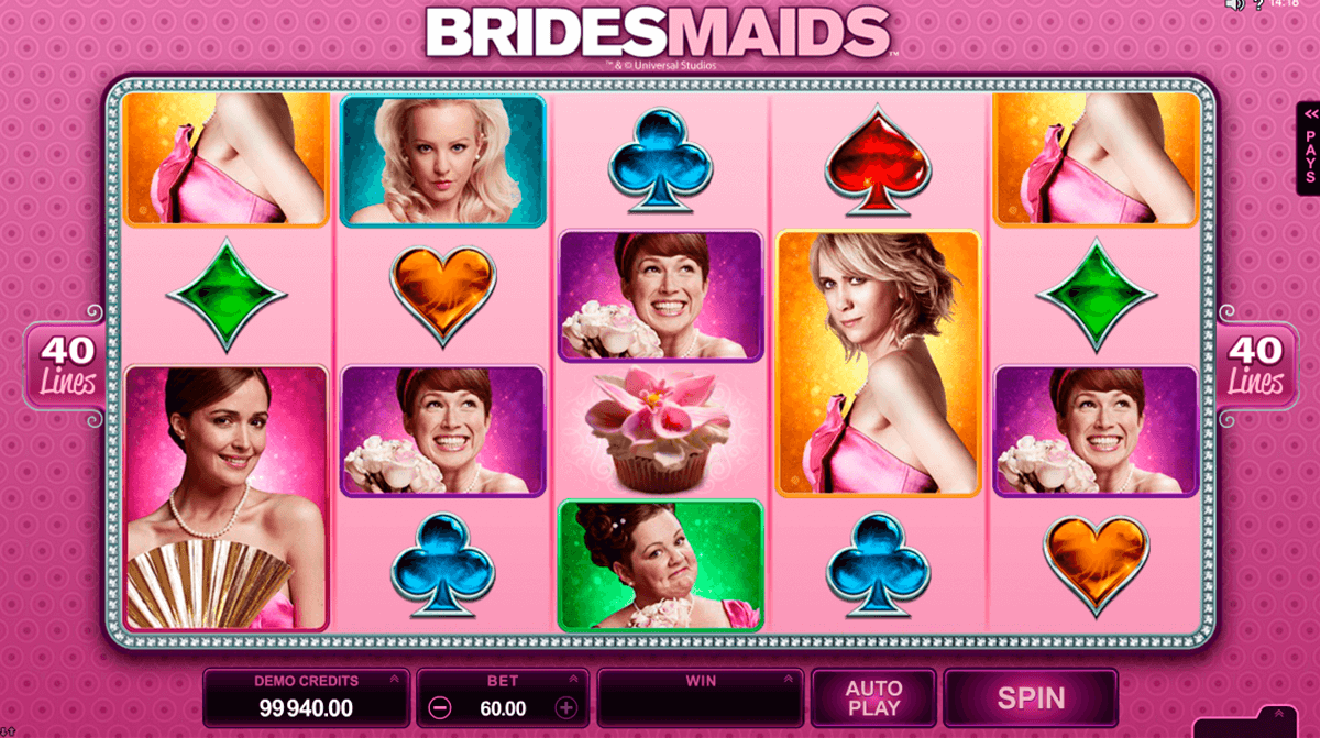 bridesmaids microgaming slot machine