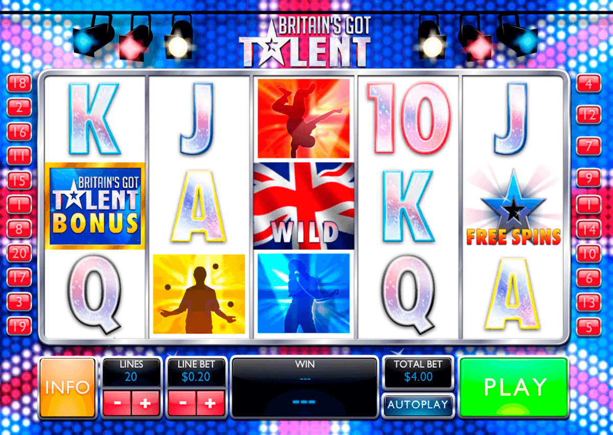 britains got talent playtech slot machine