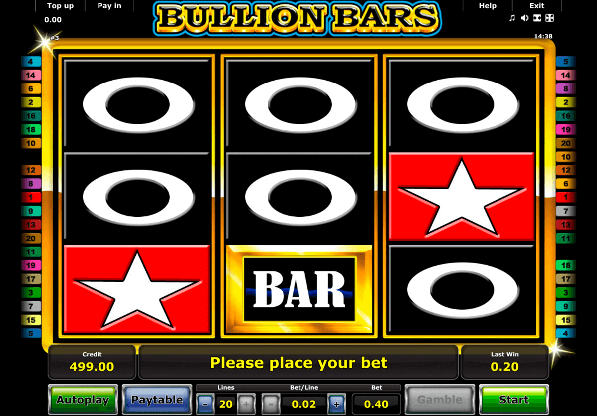 bullion bars novomatic slot machine