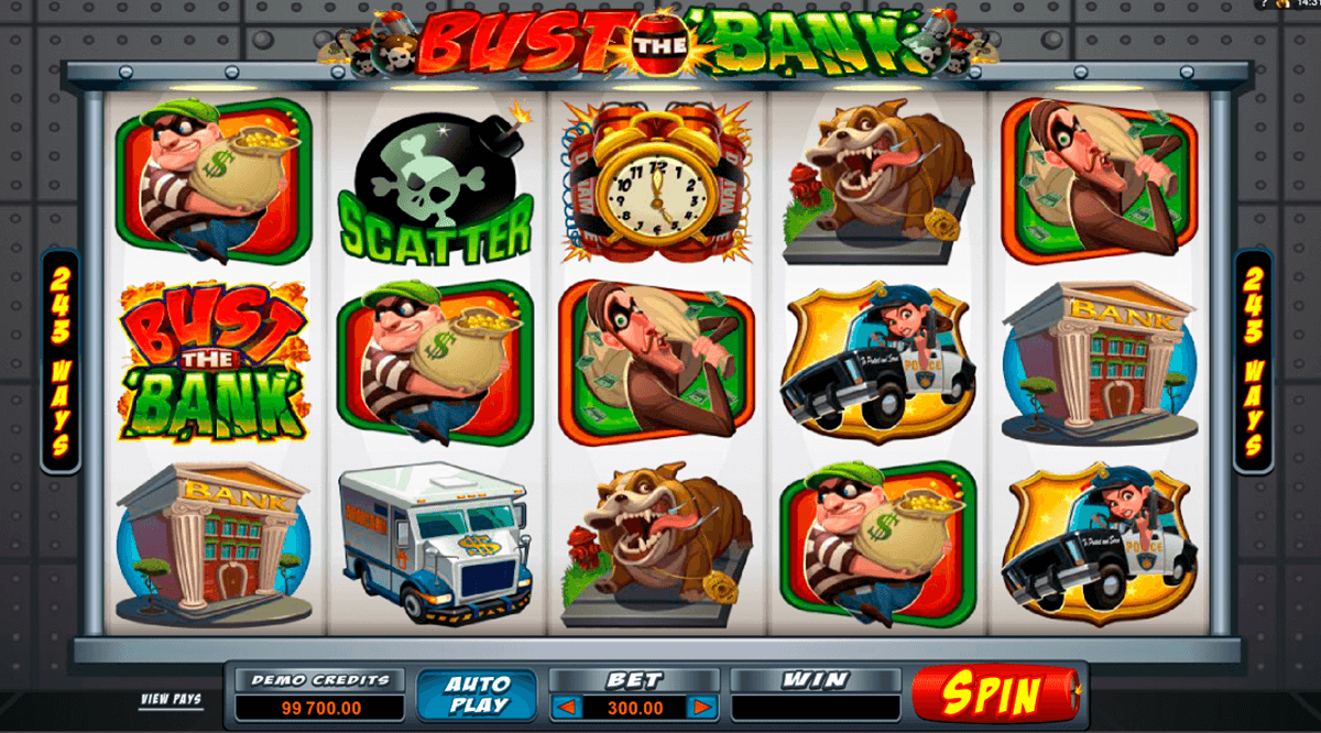 bust the bank microgaming slot machine