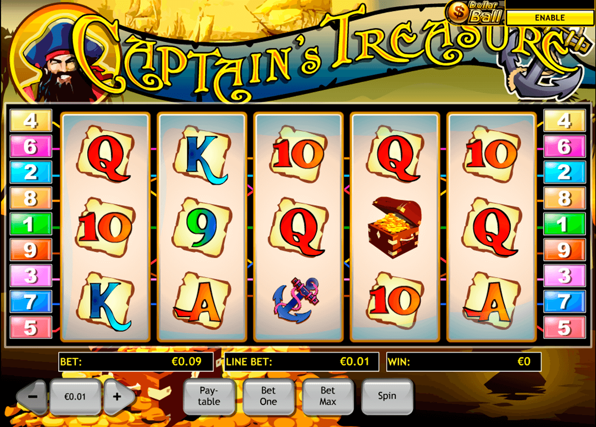 captains treasure playtech slot machine