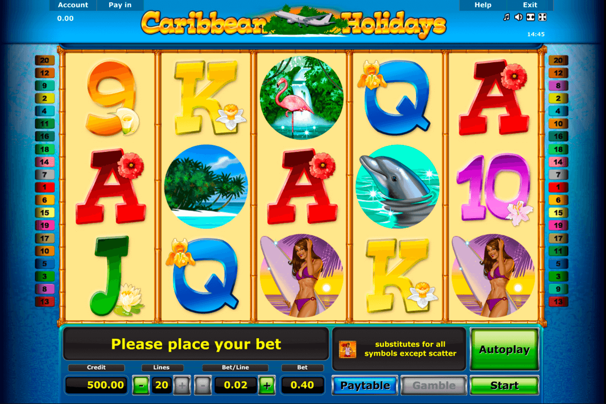 caribbean holidays novomatic slot machine