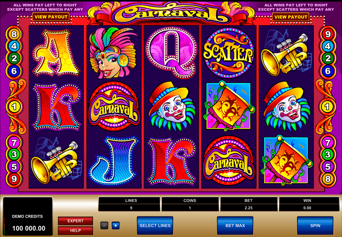 carnaval microgaming slot machine