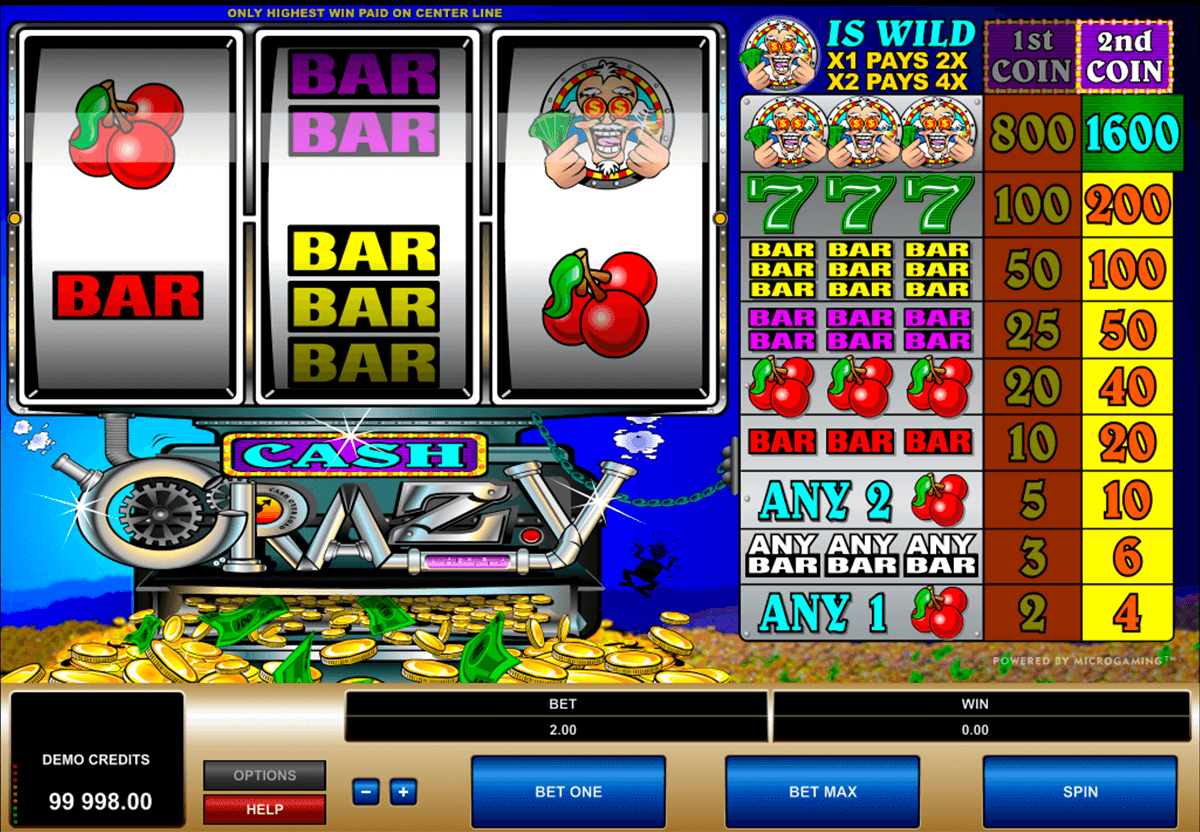 cash crazy microgaming slot machine