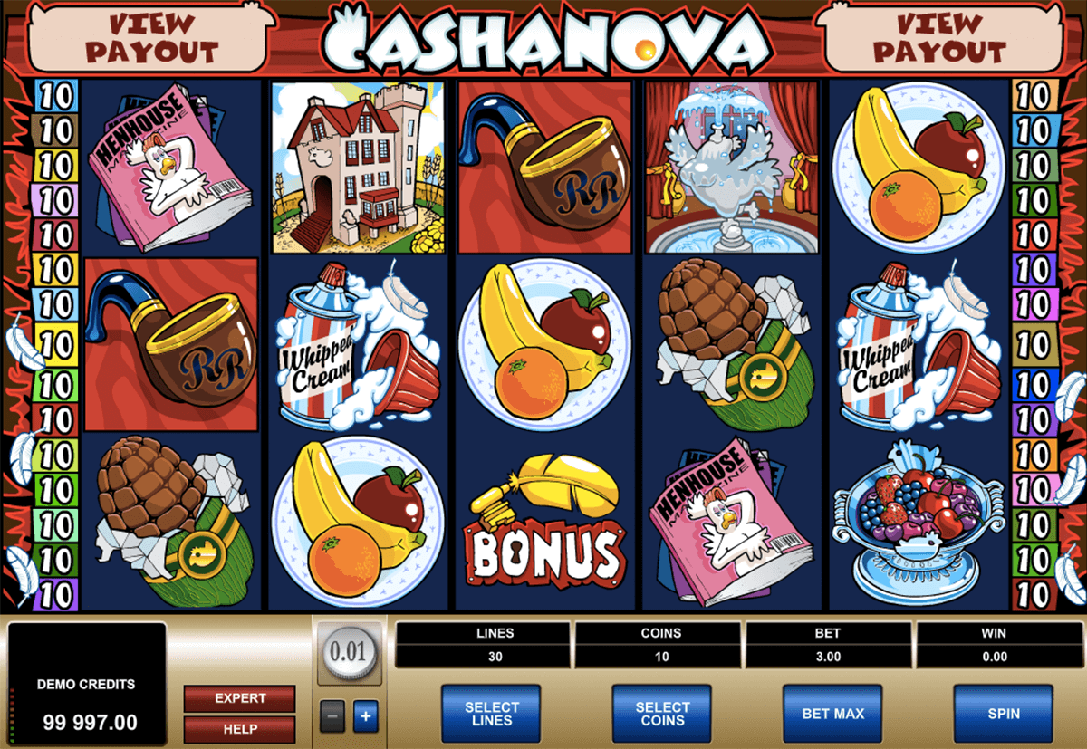cashanova microgaming slot machine