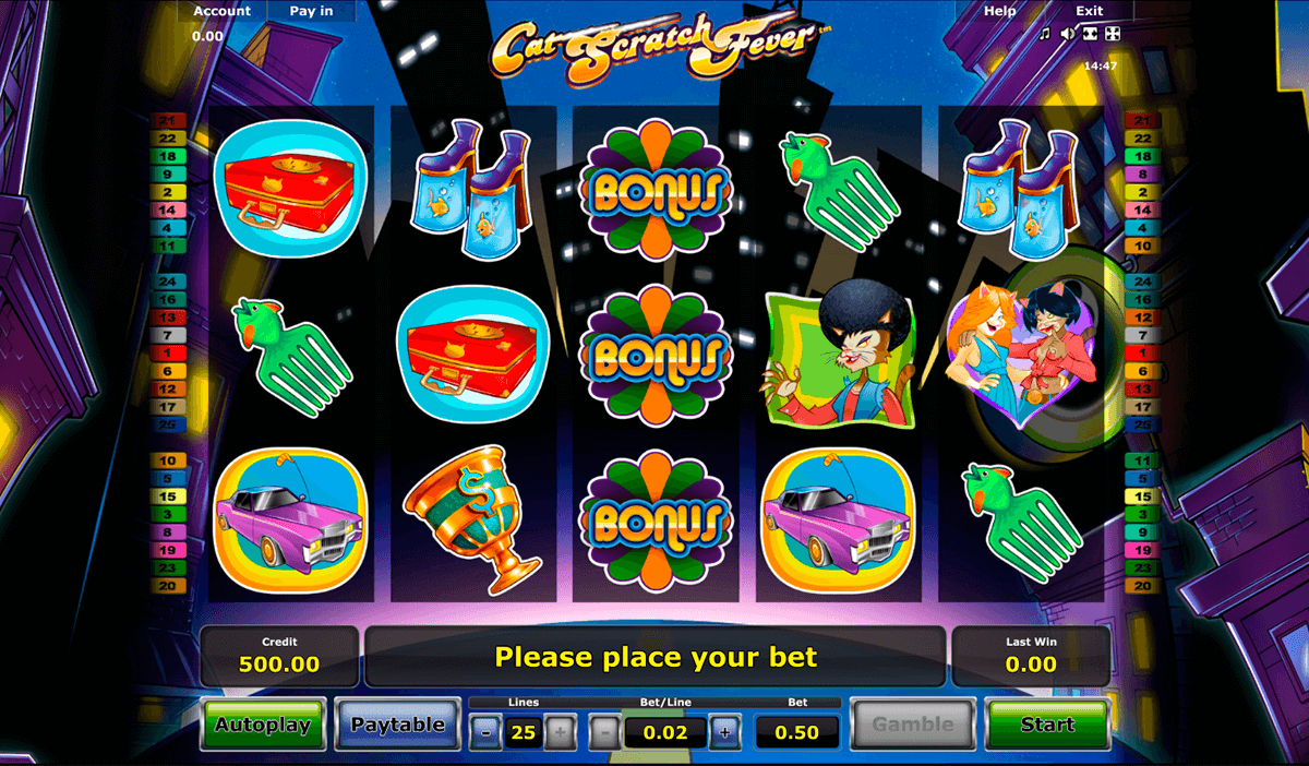 cat scratch fever novomatic slot machine