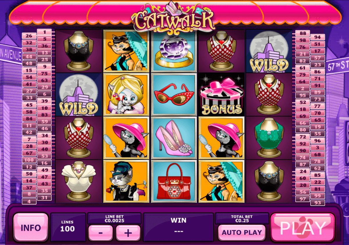 catwalk playtech slot machine