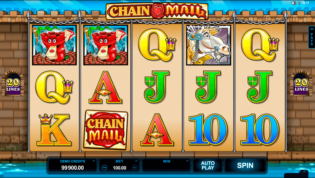 chain mail microgaming slot machine
