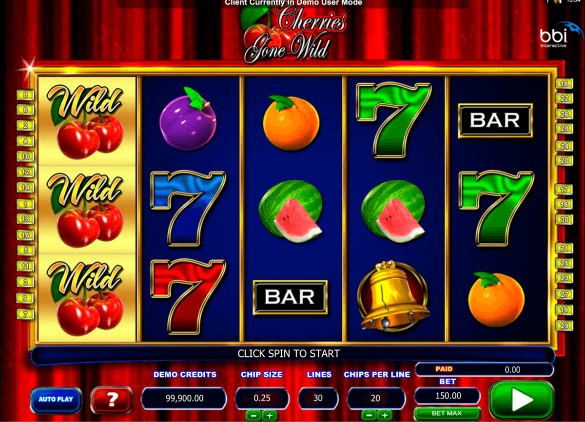 cherries gone wild microgaming slot machine