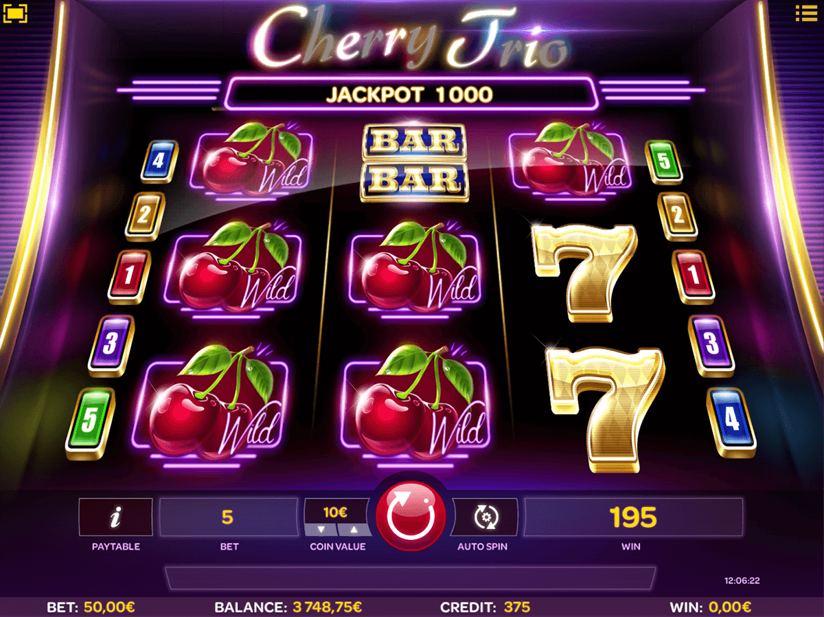 cherry trio isoftbet slot machine