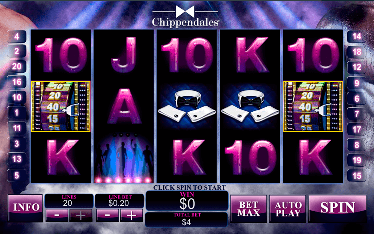 chippendales playtech slot machine