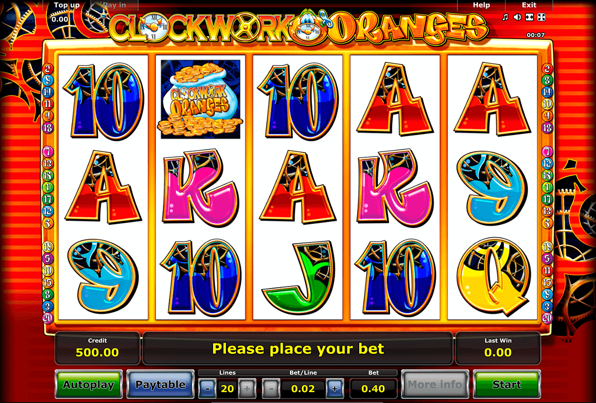 clockwork oranges novomatic slot machine