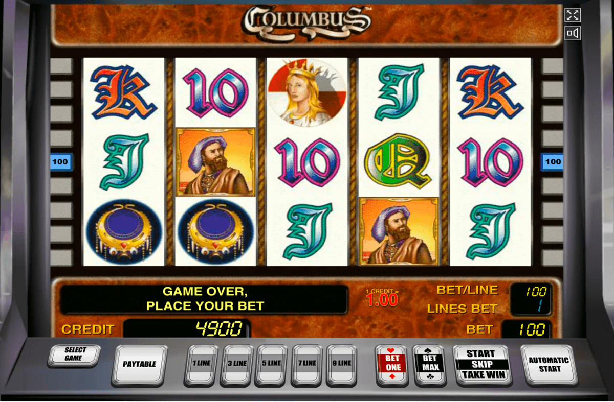 columbus novomatic slot machine