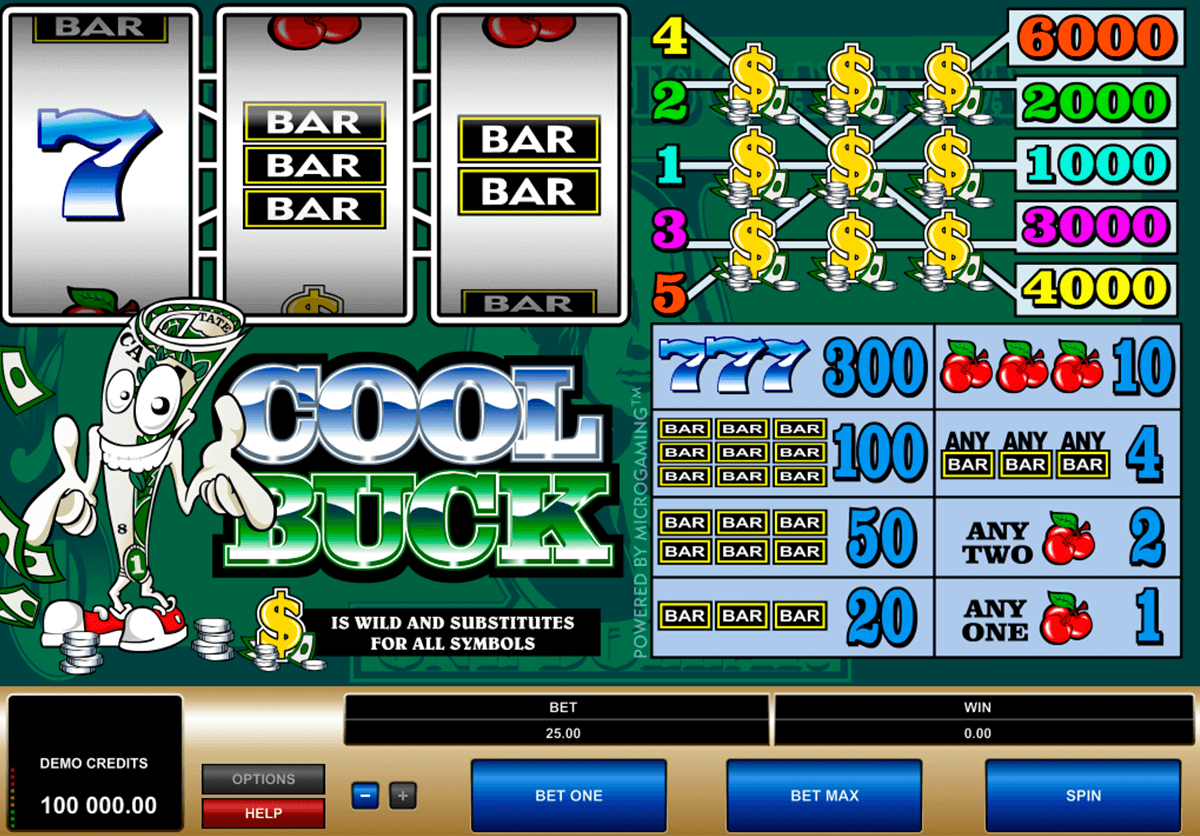 cool buck microgaming slot machine