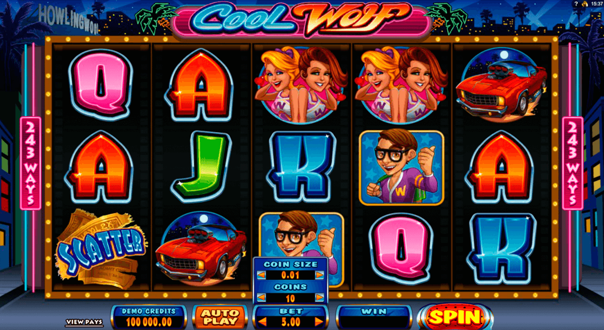 cool wolf microgaming slot machine