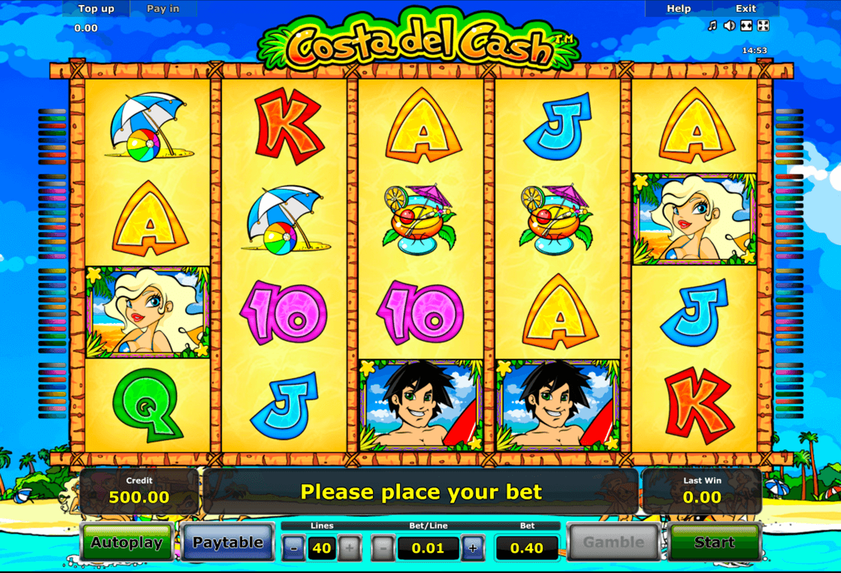 costa del cash novomatic slot machine
