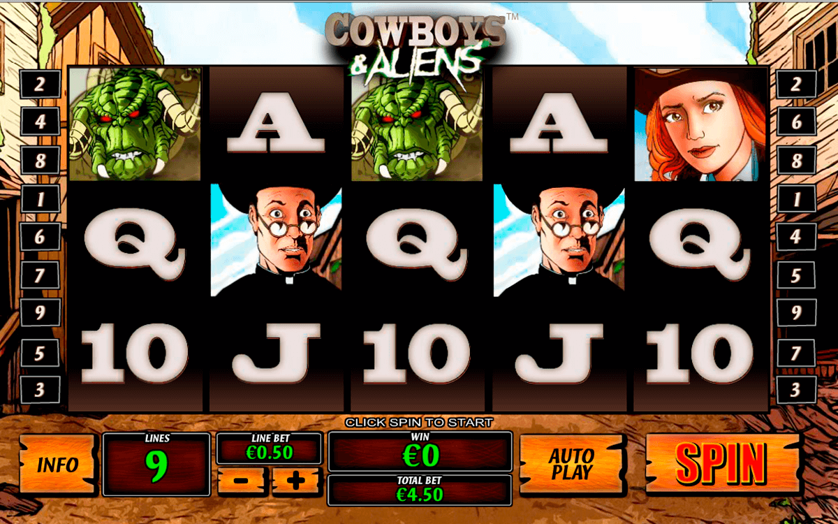 cowboys and aliens playtech slot machine