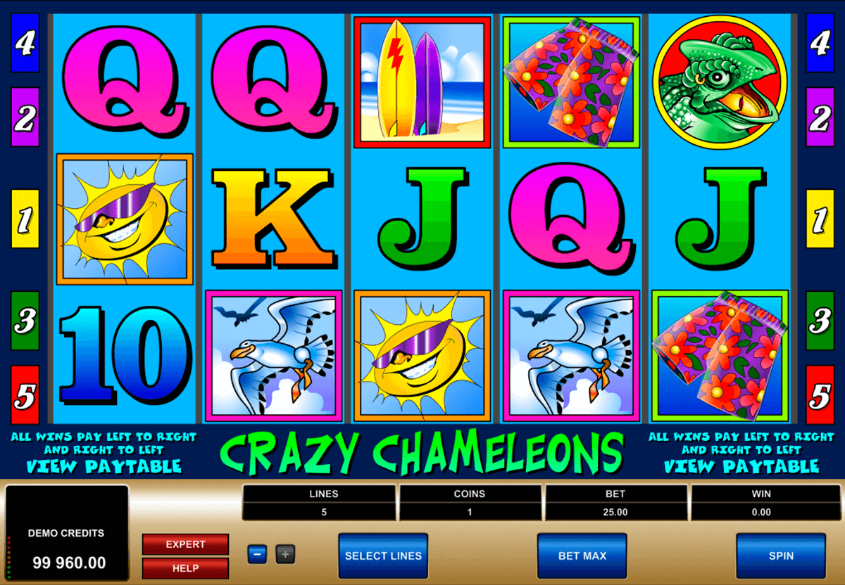 crazy chameleons microgaming slot machine
