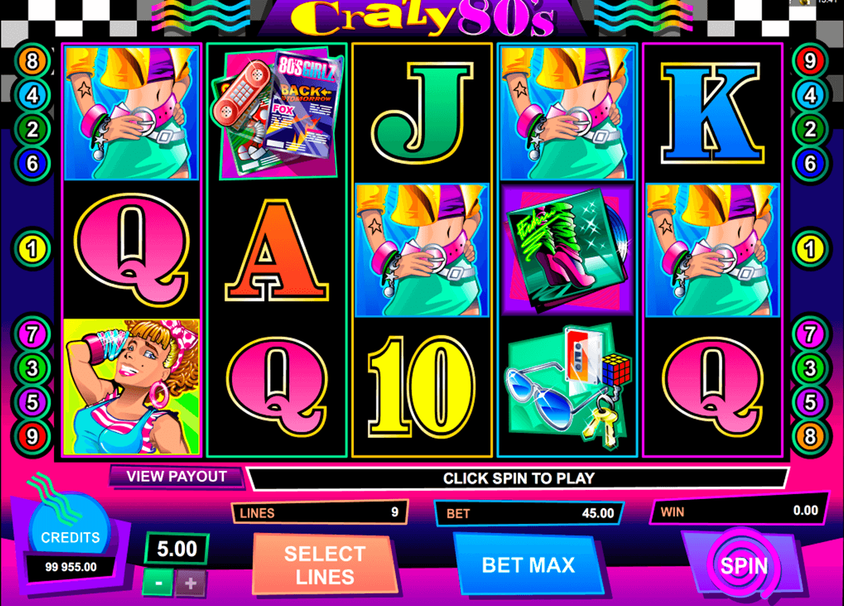crazy80s microgaming slot machine