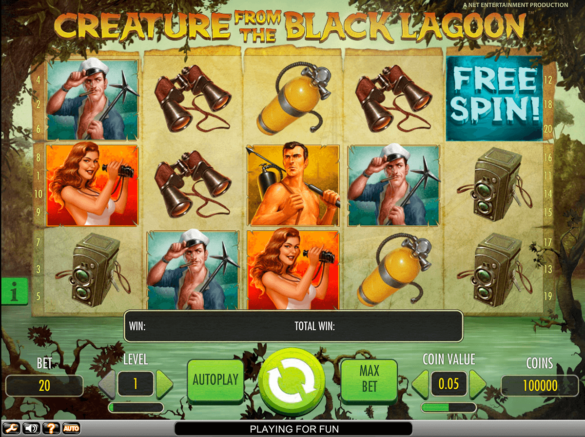 Creature from the black lagoon slot machine online netent events cheats link