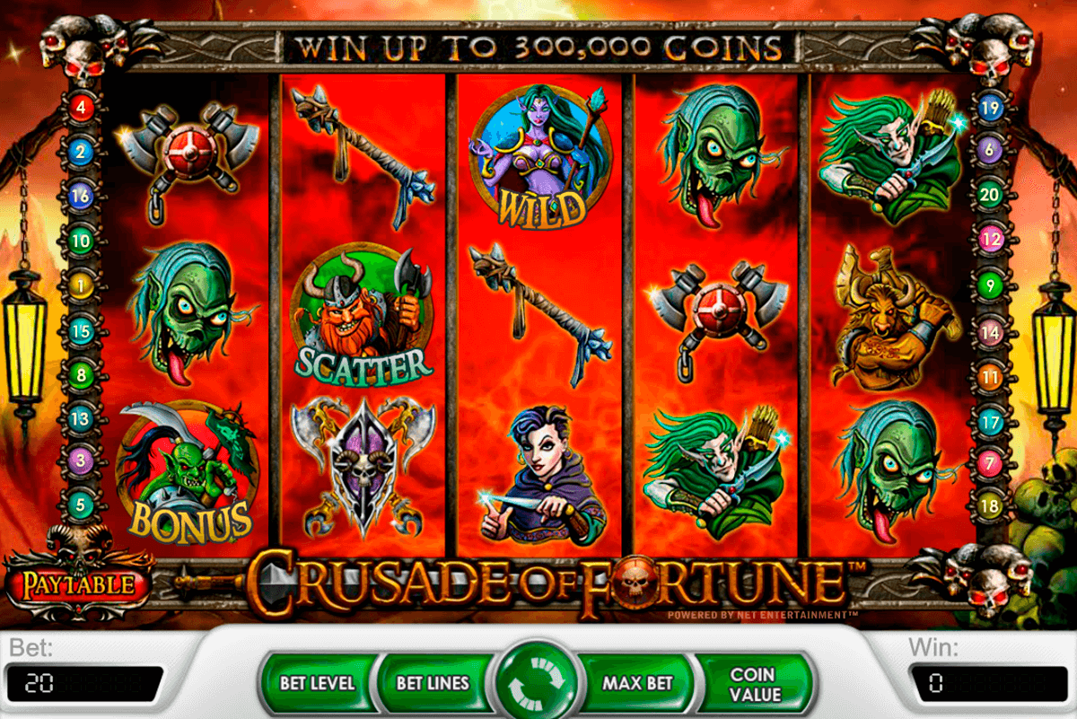crusade of fortune netent slot machine